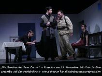"""""""Die Gewehre der Frau Carrar"""" – Premiere am 28. November 2015 im Berliner Ensemble auf der Probebühne © Frank Wesner für alleseintheater.wordpress.com"""