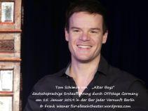"""""""Altar Boyz"""" – deutschsprachige Erstaufführung durch OFFstage Germany am 15. Januar 2019 in der Bar jeder Vernunft Berlin © Frank Wesner für alleseintheater.wordpress.com"""