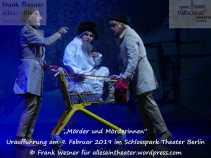 """""""Mörder und Mörderinnen"""" – Uraufführung am 9. Februar 2019 im Schlosspark Theater Berlin © Frank Wesner"""
