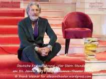 """Rufus Beck in """"Vier Stern Stunden"""" – Deutsche Erstaufführung am 31. Januar 2019 im Renaissance-Theater Berlin © Frank Wesner"""
