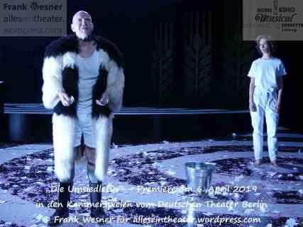 """""""Die Umsiedlerin"""" – Premiere am 6. April 2019 in den Kammerspielen vom Deutschen Theater Berlin © Frank Wesner"""