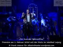 """""""Der Kuss der Spinnenfrau"""" – Premiere am 1. Februar 2020 mit der MuKo im Westbad Leipzig © Frank Wesner für alleseintheater.wordpress.com"""